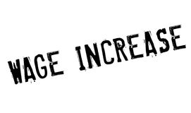 Wage Increase rubber stamp Stock Photos