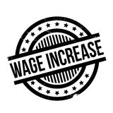 Wage Increase rubber stamp Stock Image