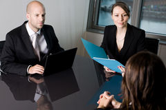 Wage negotiations Royalty Free Stock Photography