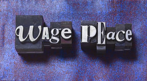 Wage Peace Stock Image