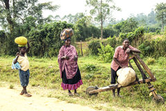 Wagen in Afrika Lizenzfreie Stockbilder