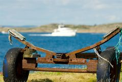 Wagen in een close-up op de westkust, Zweden royalty-vrije stock foto