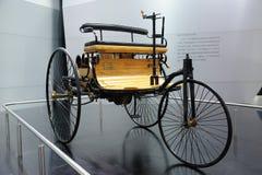 wagen för benzmotorpatent Arkivfoton