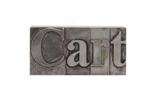 ?Wagen? im alten Metalltypen lizenzfreies stockbild