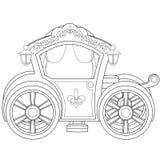 Wagen-Malbuch-Seite Lizenzfreie Stockbilder