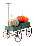Wagen and Pumpkins Royalty Free Stock Images