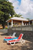 Wagenaufenthaltsräume auf Paradies-Strand Kingstown, Heiliges-Visent Lizenzfreie Stockfotografie