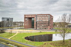WAGENINGEN, HOLLAND, - 26 JANUARI, 2016: De Universiteit van Wageningen en Onderzoekscentrum in Wageningen Stock Foto's
