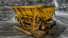 Wagenmijn zoute Ocnele de Mari-Republiek royalty-vrije stock foto's