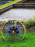 Wagenrad, Detail im Großen Tal Stockfoto