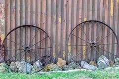 Wagenwielen royalty-vrije stock foto's
