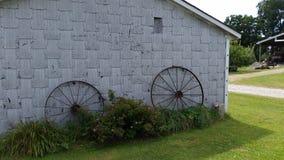 Wagenwielen royalty-vrije stock afbeelding