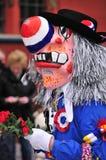 Waggis traditionelle Karnevalsschablone Stockfotos