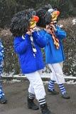 Waggis: traditionelle Schablonen des Basel-Karnevals Lizenzfreie Stockbilder