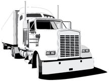 Waggon. Vectorial BW image of waggon isolated on white background vector illustration
