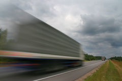 Waggon on road. Royalty Free Stock Photos