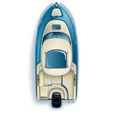 Wagi lekkiej jednosilnikowa łódź Royalty Ilustracja