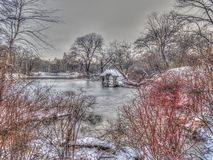 wagner cove Central Park royalty free stock photo