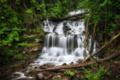 Wagner Falls, Munising, Michigan Royalty Free Stock Images
