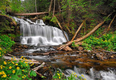 Wagner Falls, Munising Michigan, USA Stock Images