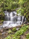 Wagner Falls Pictured Rocks National parkerar Michigan Arkivbilder