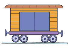 Wagon. Railway wagon for the transportation bogazha Royalty Free Stock Photo