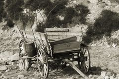 Wagon. Old western style wagon Stock Photo
