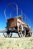 Wagon. Oregon Trail wagon and blue sky Stock Image