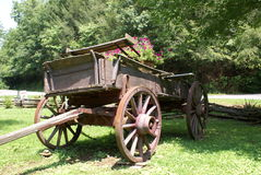 Wagon. Old rustic wagon in the Smokey Mountains of Tennessee Royalty Free Stock Photos