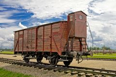 Wagon in Auschwitz Royalty Free Stock Image