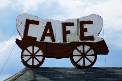Wagon cafe sign Stock Photo