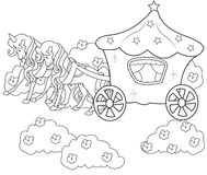 Wagon coloring page Stock Photo