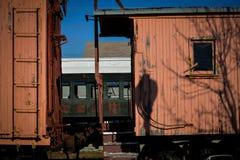Wagon couvert de train de Weahtered Photos libres de droits