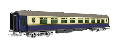 Wagon de chemin de fer d'isolement sur le fond blanc illustration de vecteur