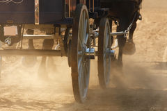 Wagon and Dirt Field Royalty Free Stock Image