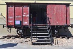 Wagon ferroviaire soviétique pour le prisonnier Photo libre de droits