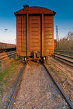 Wagon of a freight train Stock Photos
