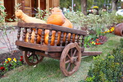 Wagon full of pumpkins Royalty Free Stock Photography