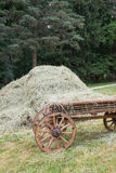 Wagon and hay Stock Photo