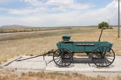 Wagon horse settler. Horse wagon in utah Golden Spike Royalty Free Stock Image