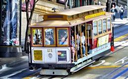 wagon kolei linowej Francisco San Fotografia Royalty Free