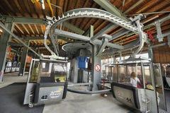 Wagon Kolei Linowej From Inside Zdjęcie Royalty Free