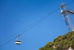 Wagon kolei linowej kabina na Gibraltar Fotografia Stock