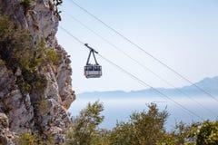 Wagon kolei linowej kabina na Gibraltar Zdjęcie Stock