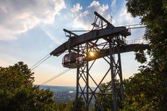 Wagon kolei linowej Koblenz Germany obraz stock