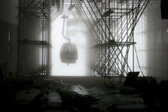 Wagon Kolei Linowej na Śnieżnej górze Obraz Royalty Free