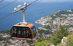 Wagon kolei linowej nad Dubrovnik Chorwacja obrazy stock