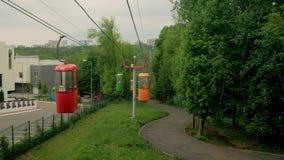 Wagon kolei linowej po widok zbiory wideo