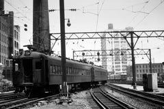wagon kolei linowej retro Obrazy Stock