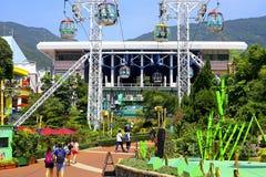 Wagon kolei linowej stacja przy oceanu parkiem, Hong kong Obraz Royalty Free